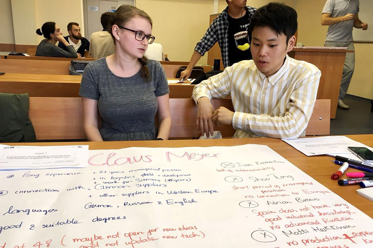Students of the International Polytechnic Summer School worked on their projects in international groups