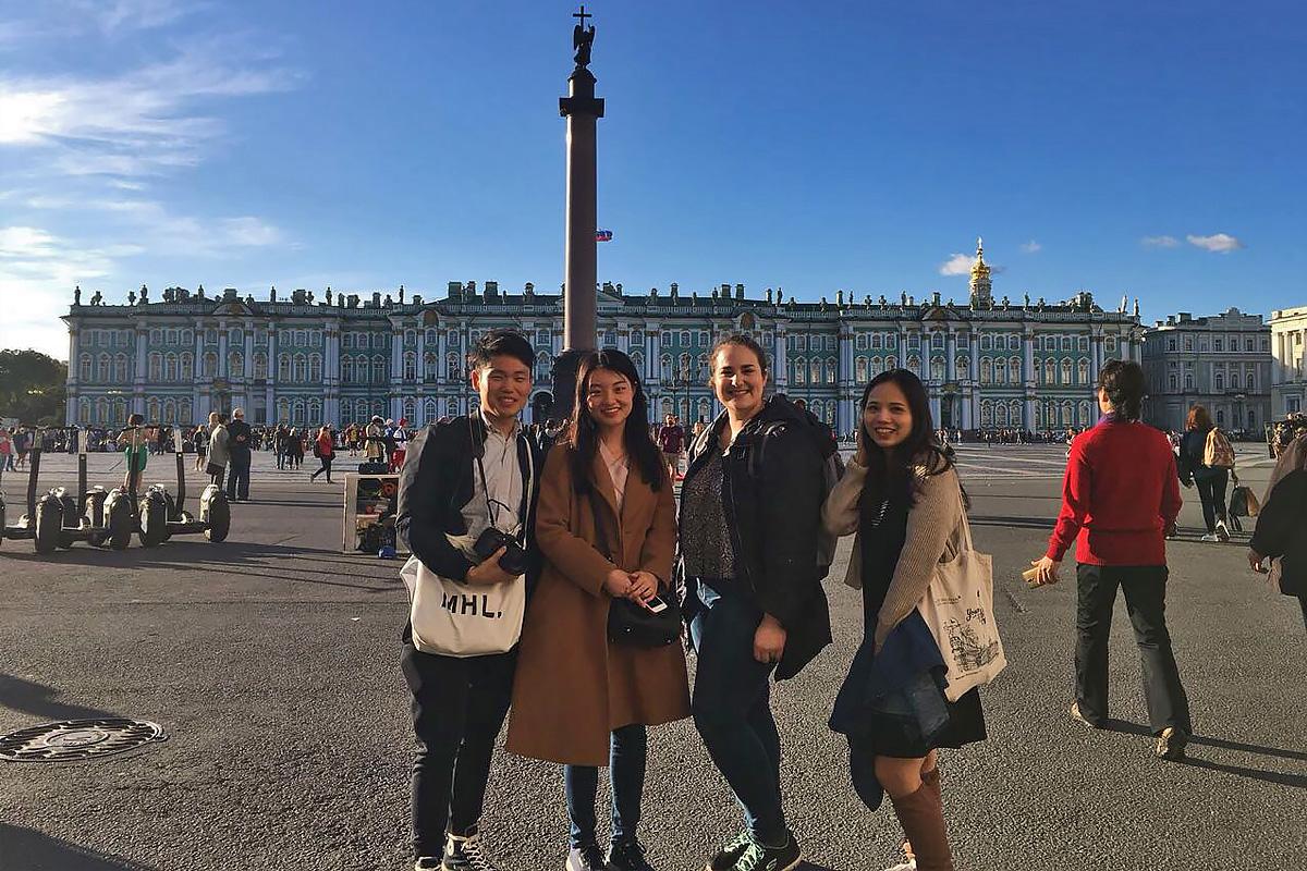 A rich cultural program was developed for SPbPU international students
